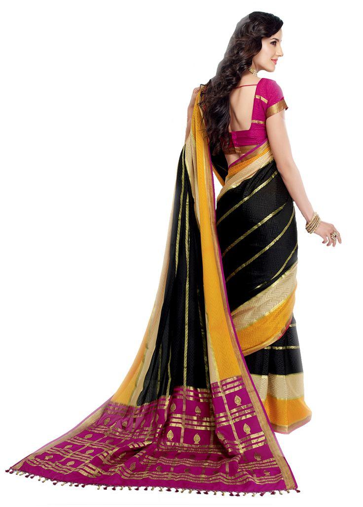 A lovely Mysore silk saree
