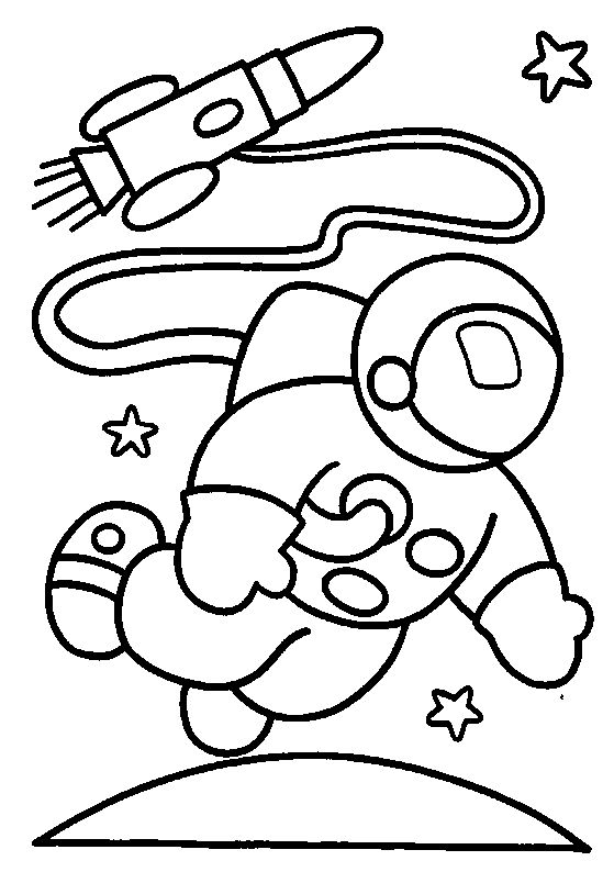 space astronaut coloring pages - Preschool Coloring Worksheets