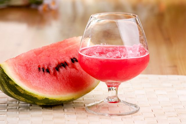 Watermelon Detox Smoothie Recipe Beverages with watermelon, green grapes, lime peel, cayenne, water