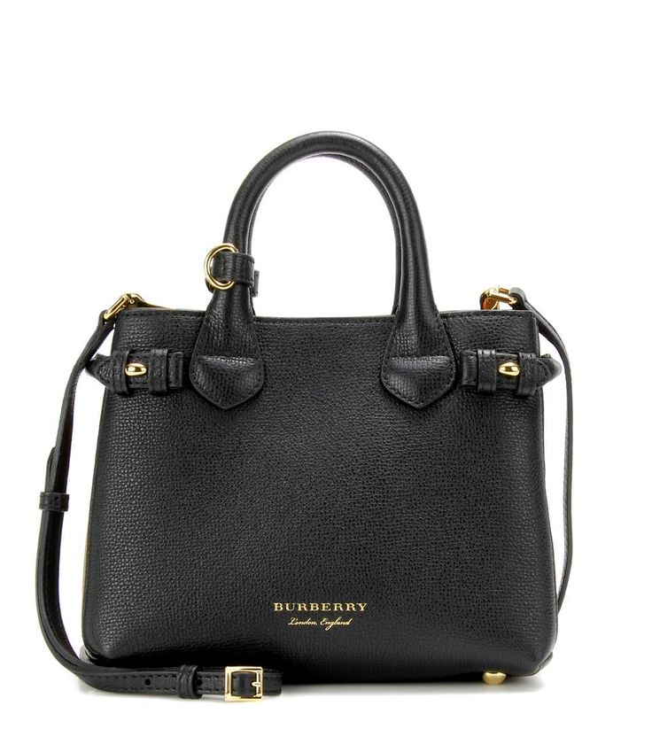 Burberry London England The Baby Banner leather shoulder bag
