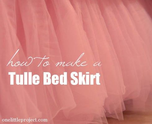 How to make a tulle bed skirt tutorial. These are so beautiful for a little girl's room!