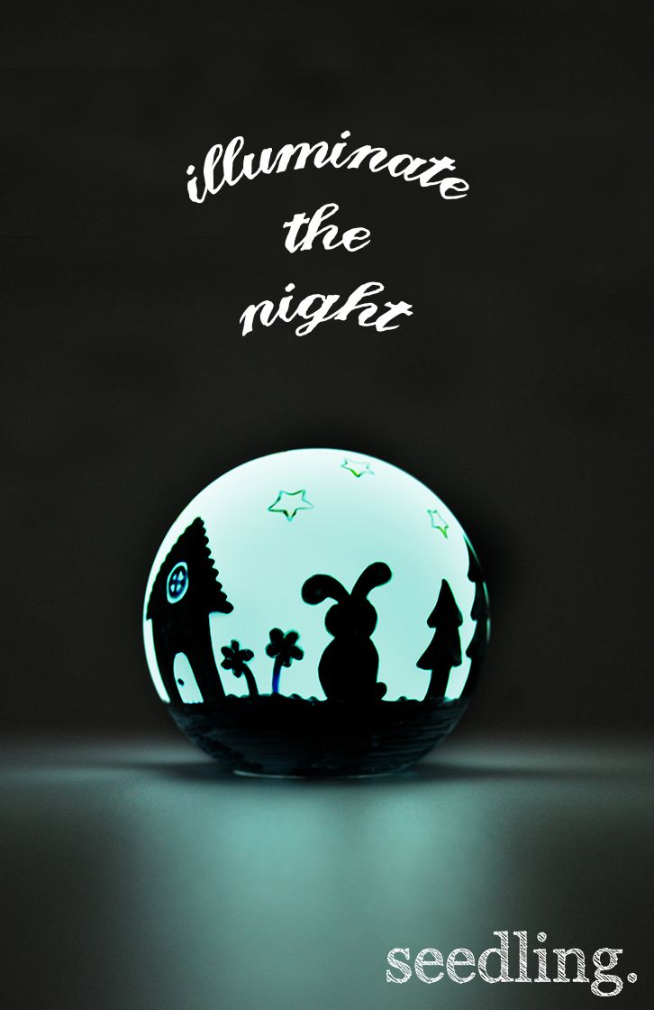 Make your own night light with our wonderful illuminate the night craft kit! www.seedling.com