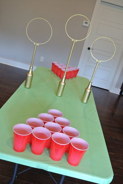 This is a great set of instructions for making table quidditch hoops