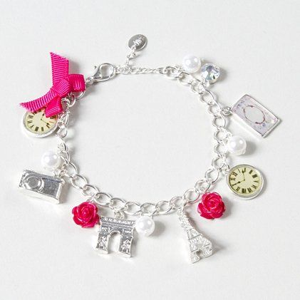 Eiffel Tower Paris Silver Charm Bracelet from Claire's $10.00