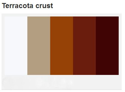 If your terra cotta leans more toward an earthy brown color than orange,  you might