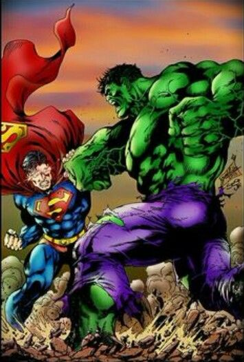 the hulk vs superman the strongest one there is