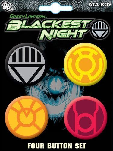 Green Lantern Blackest Night Evil 4 Piece Button Set