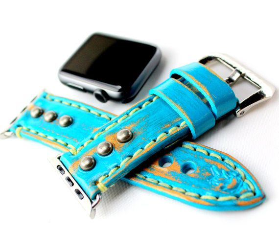 CUCKOO NEST ART STUDIO DESIGN 2017. This listing is for the WATCH STRAP BAND only, Apple Watch is not included. All the Apple Watch bands are available in two sizes for 38mm and 42mm Apple Watch models, and included silver or black adapter ensures the bands works well with your smartwatch. The adapters are the metal pieces at the end of each watch band that is used to connect it the band to your Apple Watch…