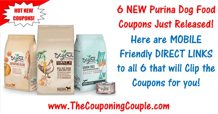 ***6 NEW Purina Dog Food Coupons ~ PRINT NOW & SAVE on Feeding Fido + 1 NEW Tidy Cats Cat Litter Coupon*** Click the Picture Below for a detailed list of MOBILE FRIENDLY DIRECT LINKS that will clip the coupons for you ► http://www.thecouponingcouple.com/6-new-purina-dog-food-coupons-print-now/  Help us out and use the SHARE button below the Picture to SHARE this post with your Family and Friends!  #Coupons #Couponing #CouponCommunity  Visit us at http://www.thecoupon