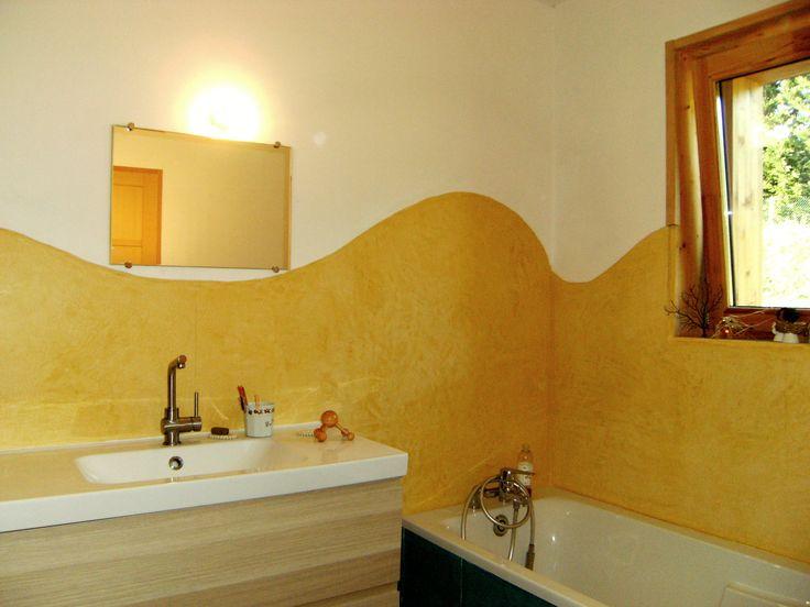 Salle de bain en tadelakt plouf bathroom lighting bathroom et bathtub - Tadelakt salle de bain ...