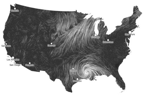 Wind maps insanely cool graphic depiction
