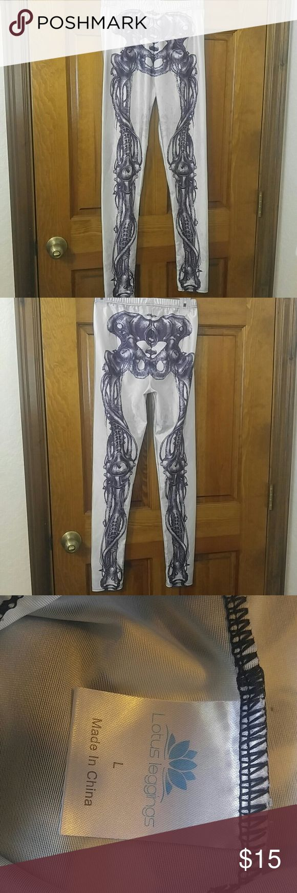 Lotus skeleton leggings tights Bionic like skeleton leggings Lotus Pants Leggings
