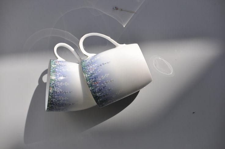 Lalala Long Black cup & Mug, Teaware porcelain handthrown handpainted Finest Jingdezhen Porcelain Tea cup coffeecup by Spherebol