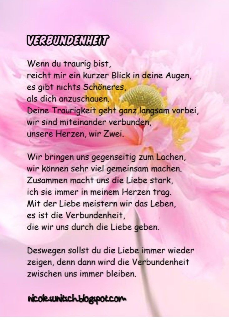 Pin Von Gedichte Nicole Sunitsch Auf Gedichte Zitate Reime