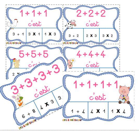 La multiplication et les additions réitérées! Jeu d'autonomie! - dys é moi zazou