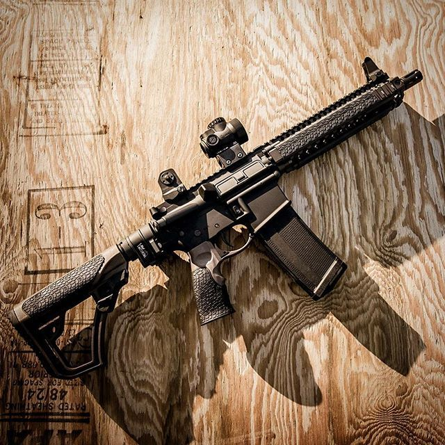 The proven DDMK18 with @lawtactical folder and @trijicon MRO with a 32 round Daniel Defense magazine.