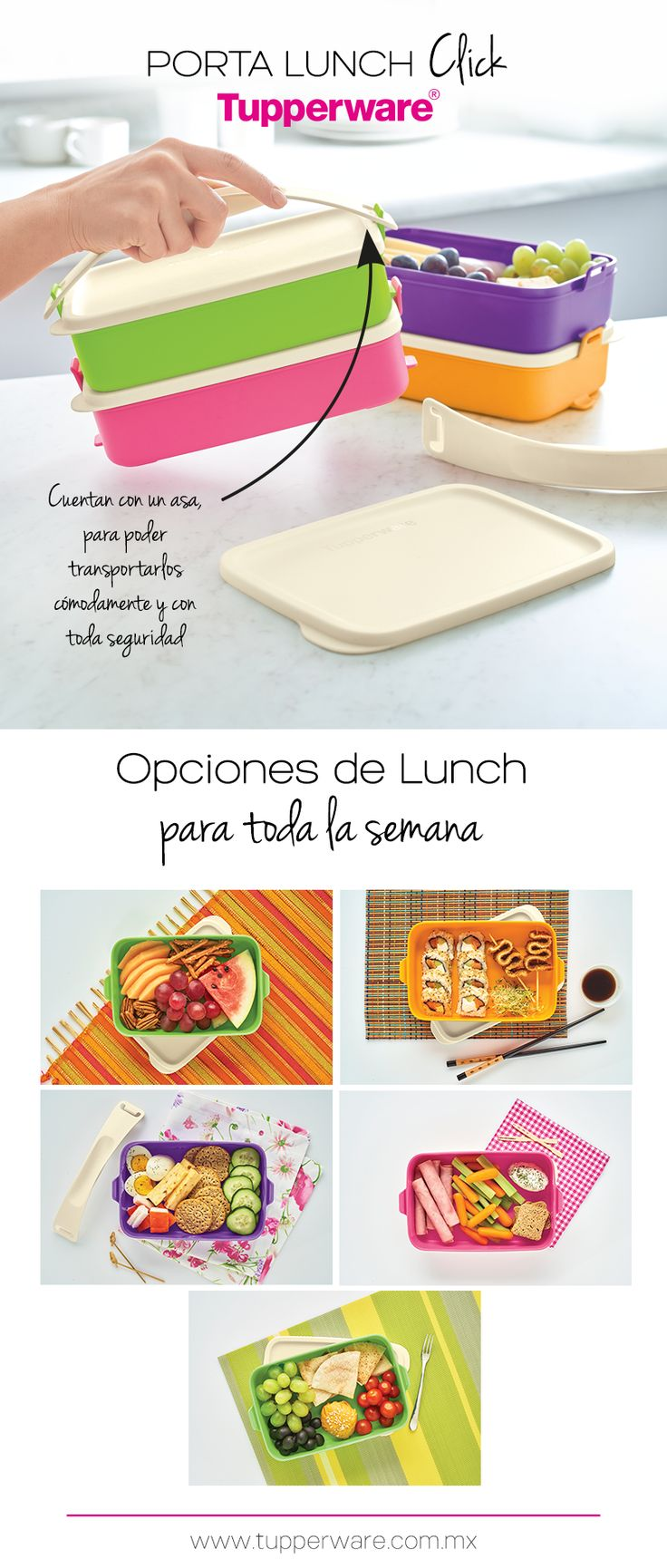 Porta Lunch Click Tupperware®
