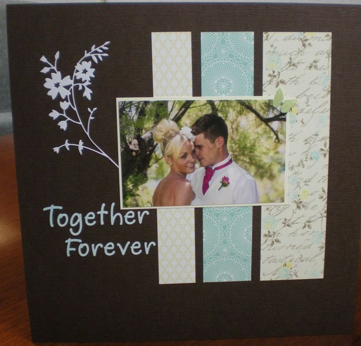 Wedding scrapbook page -  like this layout.