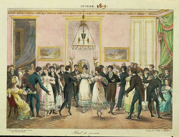 A Society Ball, Engraved by Charles Etienne Pierre Motte (1785-1836) 1819 by Hippolyte Lecomte (1764-1827)