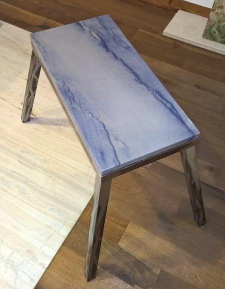 Marmor Ponzo GmbH - Natursteine in Berlin - Marmortische - Marmorhocker - Beistelltische - Schreibitsche - Marmorplatte - Tische nach Maß - Gestell - Eisen - Edelstahl