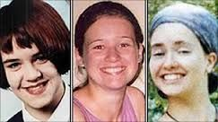 The three young victims of British serial killer Peter Tobin. 15 year old Vicky Hamilton (left), 23 year old Angelika Kluk (middle), 18 year old Dinah McNicol (right).
