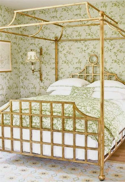 Canopies gold canopy bed for Gold bed canopy