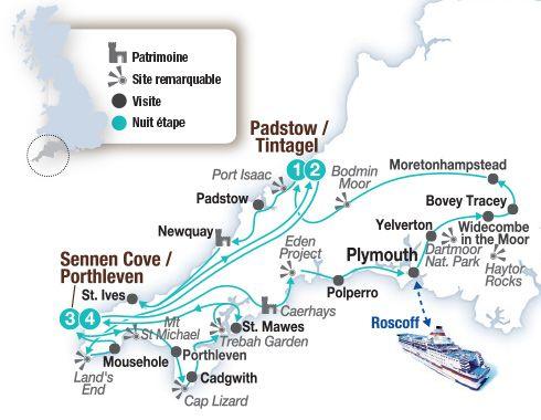 Circuit voiture en Angleterre, le charme caché des Cornouailles anglaises - Brittany Ferries - Brittany Ferries