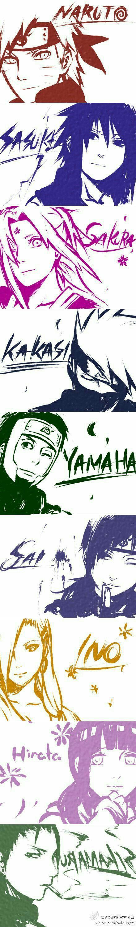 The konoha nin.. #Naruto and Friends
