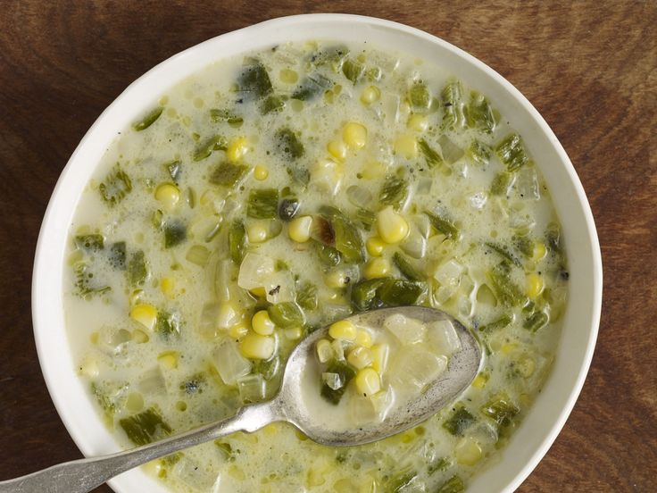 Creamy Poblano Soup... it will warm you up with the littlest whisper of spice from the roasted chiles poblanos.