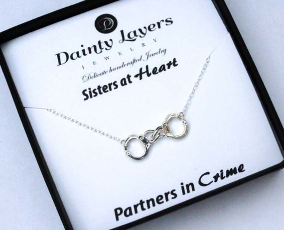 Partners in Crime Necklace / Handcuff by DaintyLayersJewelry