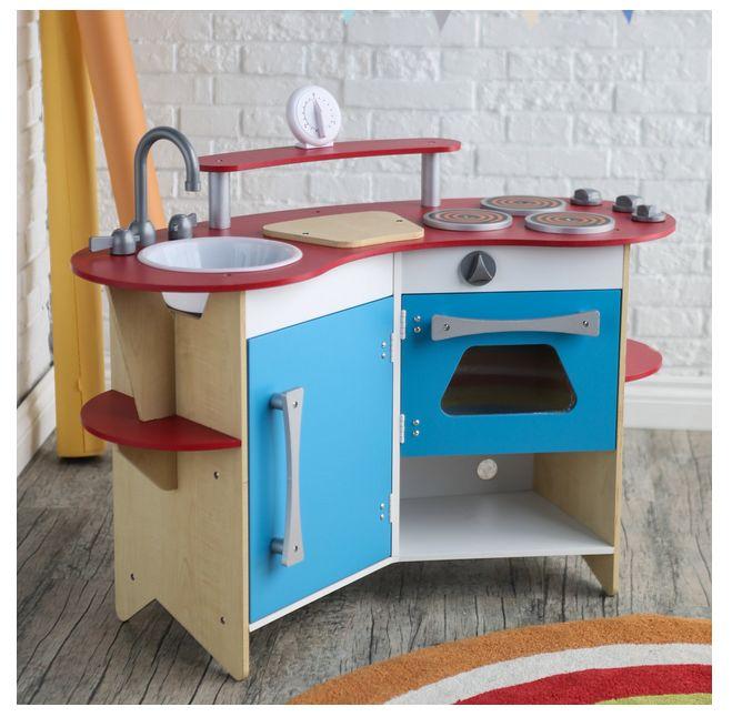 Blue Wooden Play Kitchen best 20+ wooden kitchen playsets ideas on pinterest   diy play