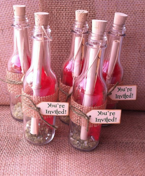 """would like to incorporate """"message in a bottle"""" maybe treasure map in a bottle for the treasure hunt."""