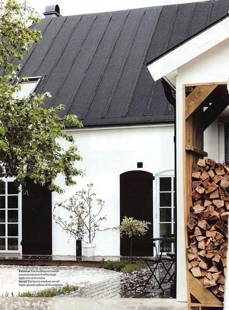 courtyard - wood - doors