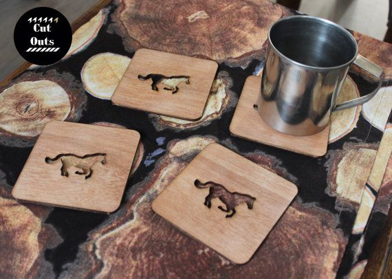 horse coasters by CutOutsMK on Etsy