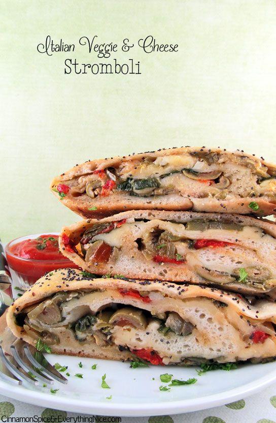 Italian Veggie & Cheese Stromboli