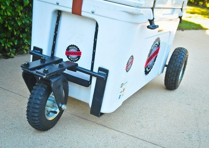 Custom made wheel set - YETI Tundra 105, 125 or 160 qt (Front and Back w/handle)