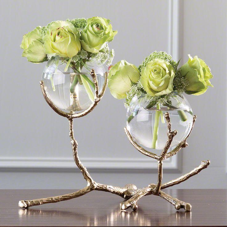 Twig 2 Vase Holder Brass Bathroom House And Brass
