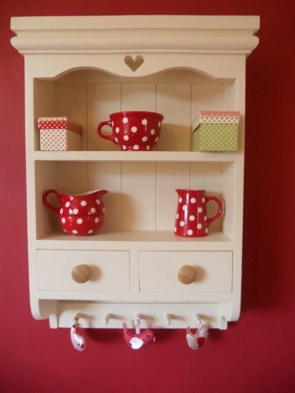 Shabby chic farmhouse wall unit shelf shelves cabinet hand painted Laura Ashley | eBay