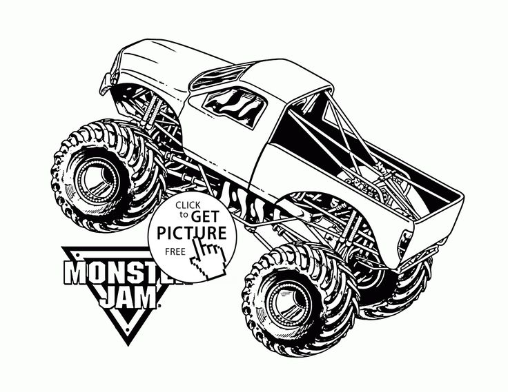 coloring pages trucks monster jam - photo#38