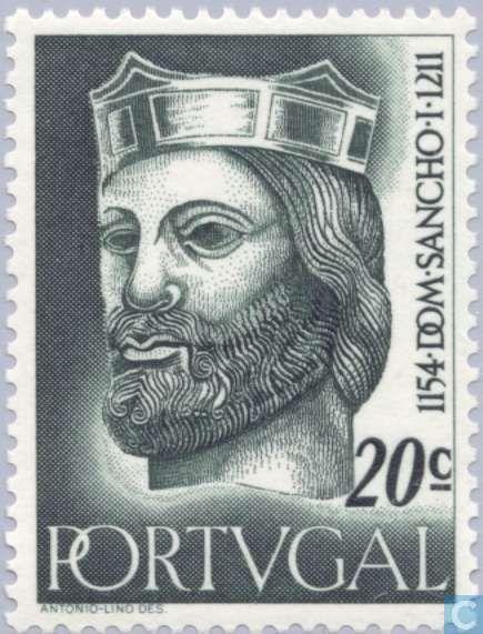 1ª Dinastia AFONSINA - D. SANCHO I, (1154-1211), o Povoador - Portugal  [PRT] - First Dynasty 1955