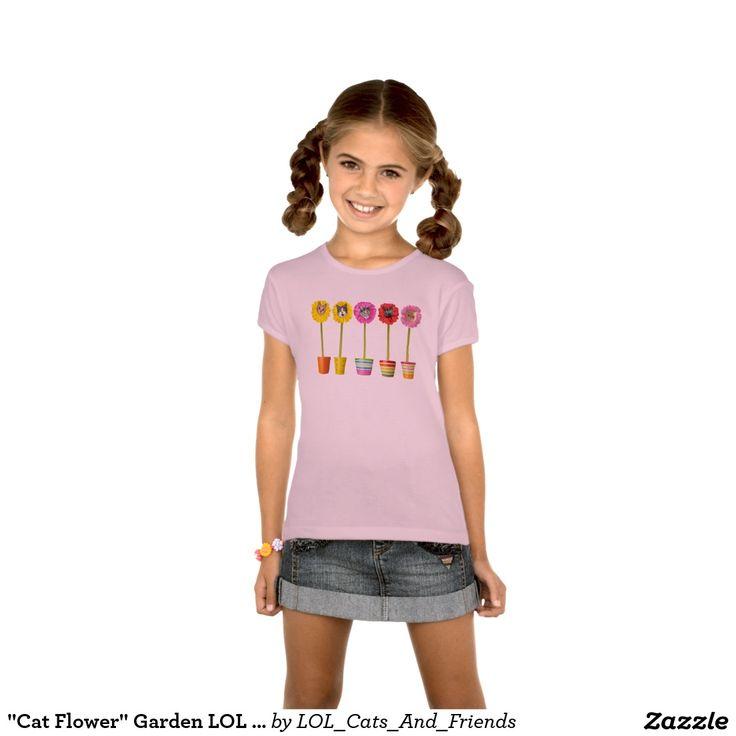 """Cat Flower"" Garden LOL Funny Kid's Shirt"