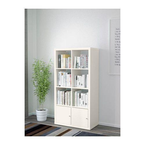 KALLAX Étagère avec portes - blanc - IKEA