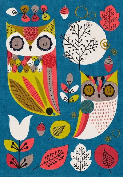 print & pattern: KITCHENWARE - m&s owls
