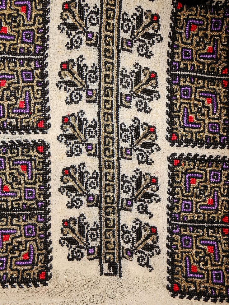 Patterns on a handmade Romanian blouse from 1937.