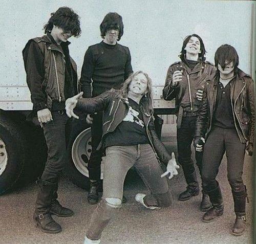 Since today is Samhain, here is Glen Danzig's band Samhain with Metallica's James Hetfield who looks like he maybe playing the airaccordion