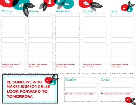 73 best Planners images on Pinterest Weekly planner - free weekly calendar template