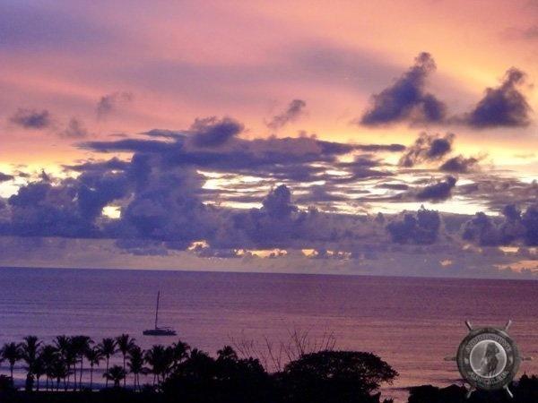beautiful sunset on the golden coast of costa rica