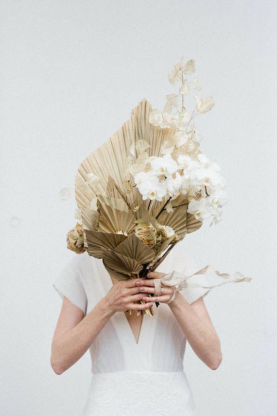 Modern French Tropical Wedding Ideas With Dried Flowers Dried Flowers Wedding Flower Bouquet Wedding Wedding Bouquets