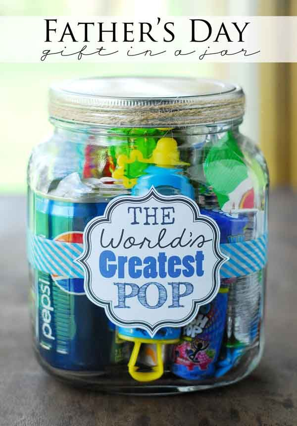 Cute idea for father's day. My dad would love this!