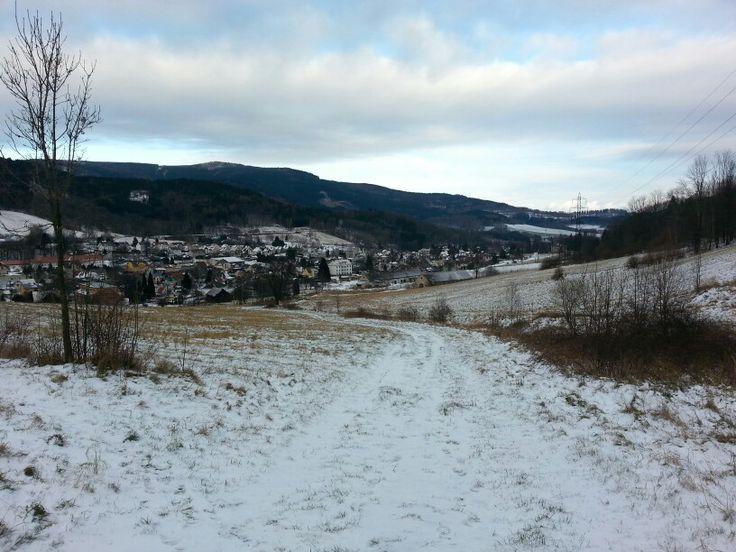 Lipova lazne. Trail on Serak & Obri skaly.